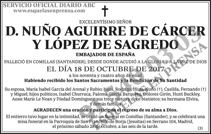 Nuño Aguirre de Cárcer y López de Sagredo